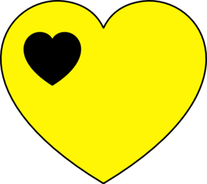 Black And Yellow Heart Clip Art