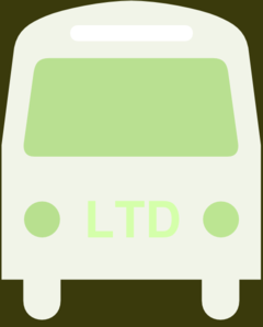 Green Ltd Bus Silhouette Clip Art