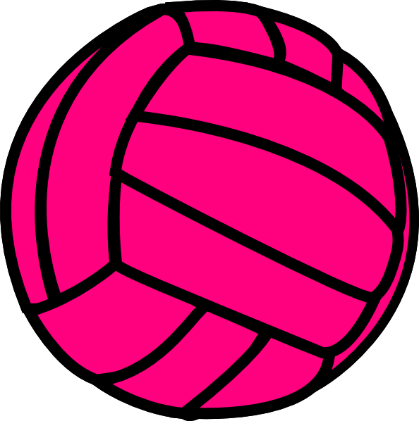 pink volleyball clip art at clker com vector clip art online rh clker com clip art volleyball free clipart volleyball player