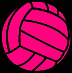Pink Volleyball Clip Art At Clkercom Vector Online