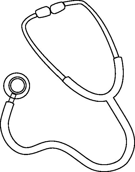Stethoscope Outline Clip Art at Clker.com - vector clip art online ...