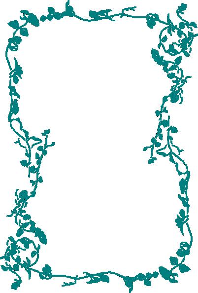 Blue Flower Border Clip Art at Clker.com - vector clip art ...