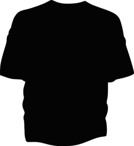 T Shirt Template Black Clip Art