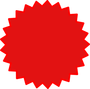 Starburst Red Clip Art