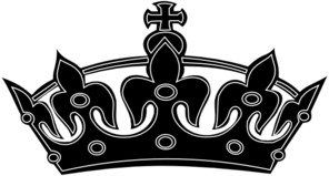 Black White Crown Clip Art at Clker.com - vector clip art online ...