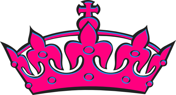 Pink Tilted Tiara Clip Art at Clker.com - vector clip art ...
