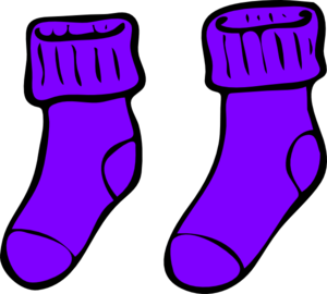 Purple Sock Clip Art at Clker.com - vector clip art online, royalty ...
