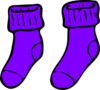 Purple Sock Clip Art