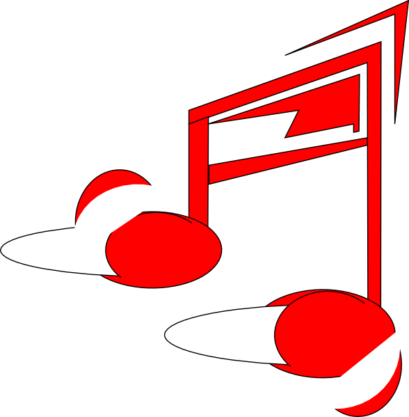 red music note clip art at clker com vector clip art online rh clker com Music Note Clip Art Music Notes