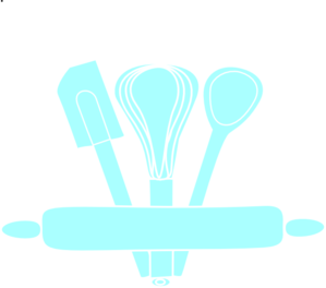 Blue Baking Utensils Clip Art at Clker.com - vector clip art online ...