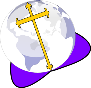 Cross And Globe Clip Art