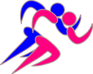 Girl And Boy Runners Clip Art