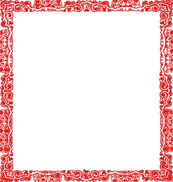 red border design clip art at clker com vector clip art online