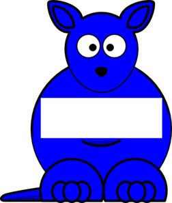 Blue  Sightword Kangaroo Clip Art