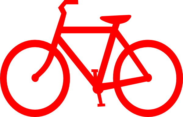 red bicycle outline clip art at clker com vector clip art online rh clker com bike clipart bicycle clipart