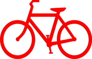 Red Bicycle Outline Clip Art