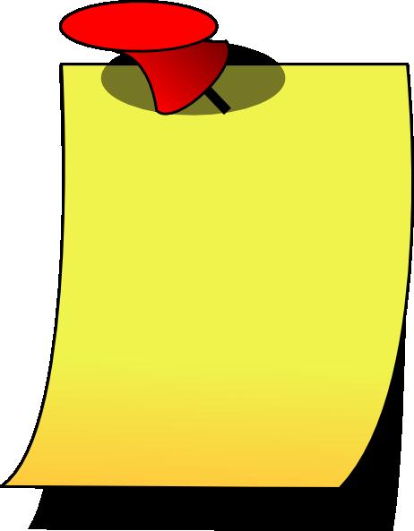 Yellow Post It Clip Art at Clker.com - vector clip art ... - photo#21