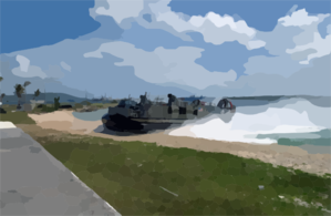 A Landing Craft, Air Cushioned (lcac) Deployed Aboard The Amphibious Assault Ship Uss Essex (lhd 2). Clip Art