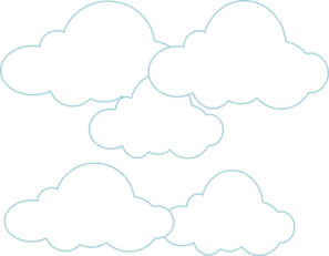 Clouds simple. Clip art at clker