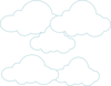 Simple Clouds Clip Art