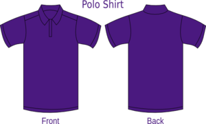 Violet Polo Shirt Clip Art