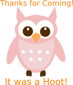 Pink Word Owl Clip Art