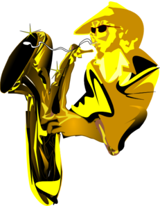 Sax Player  Clip Art