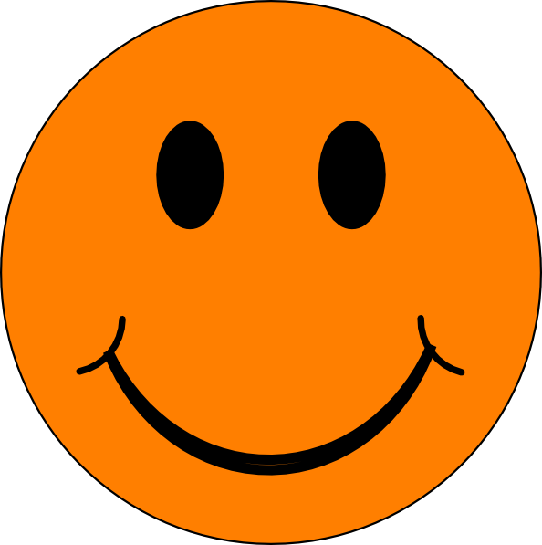 Happy Orange Face Clip Art at Clker.com - vector clip art ...