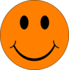 Happy Orange Face Clip Art