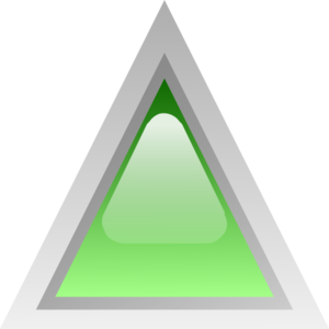 Led Triangular Green Clip Art