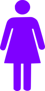 Purple Girl Figure Clip Art