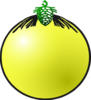 Yellow Bauble Clip Art