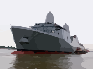 The Amphibious Transport Dock Ship Pre-commissioning Unit San Antonio (lpd 17) Floats Along The Mississippi River At Northrop Grumman Ship Systems Avondale Operations In New Orleans Clip Art