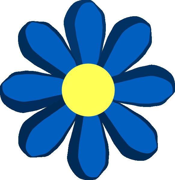 Blue spring flower clip art at clker vector clip art online png small medium large mightylinksfo