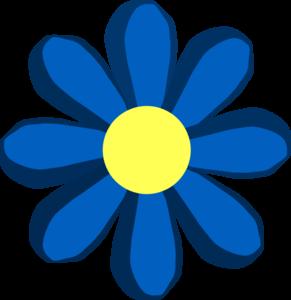 Blue spring flower clip art at clker vector clip art online blue spring flower clip art mightylinksfo