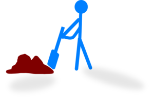 Worker Digging Clip Art