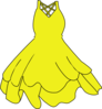 Yellow Dress Clip Art