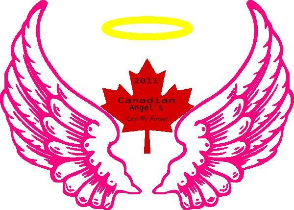 Canadian Wing Angel Halo Clip Art at Clker.com - vector clip art ...