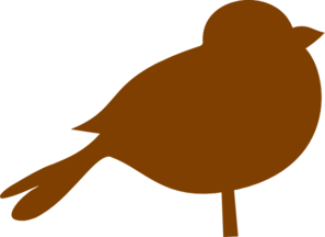 Brown Chubby Bird Clip Art