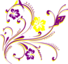 Butterfly Scroll Purle Clip Art