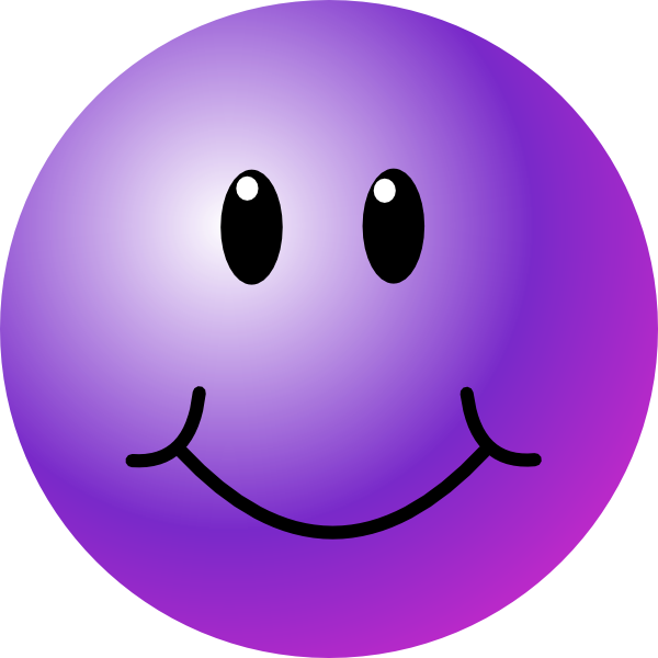 Purple Smiley Face Clip Art at Clker.com - vector clip art ...
