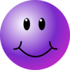 Purple Smiley Face Clip Art