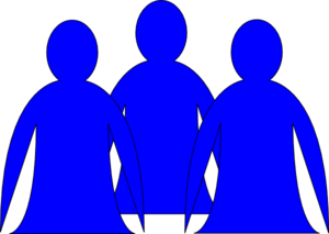 Abstract People Blue 2 Clip Art