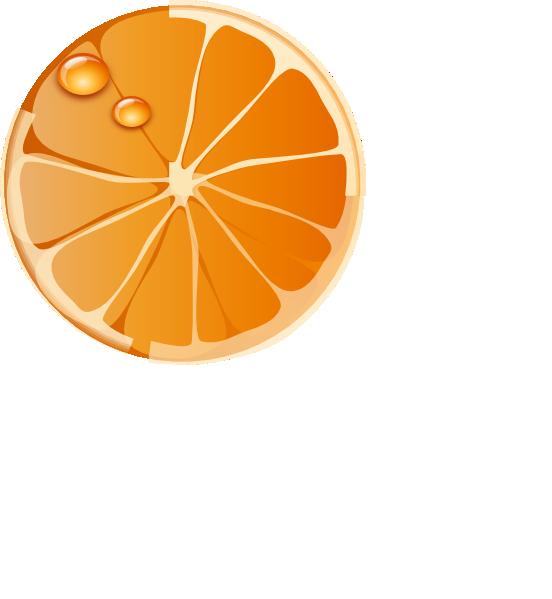 Orange Slice Clip Art at Clker com - vector clip art online