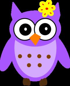 purple baby girl owl clip art at clker com vector clip art online rh clker com