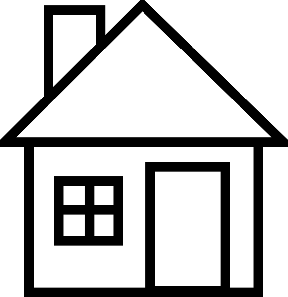 House 56 clip art at vector clip art online Black and white homes