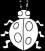 joaninha para colorir - ladybug outline