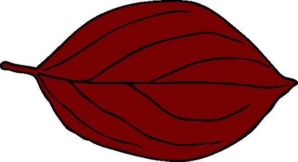 Dark Red Oval Leaf Cli...