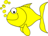 Yellow Ffish Clip Art