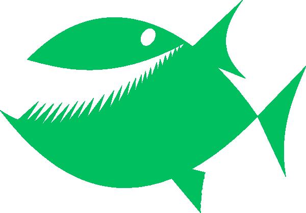 Green fish clip art at vector clip art online for P o fish